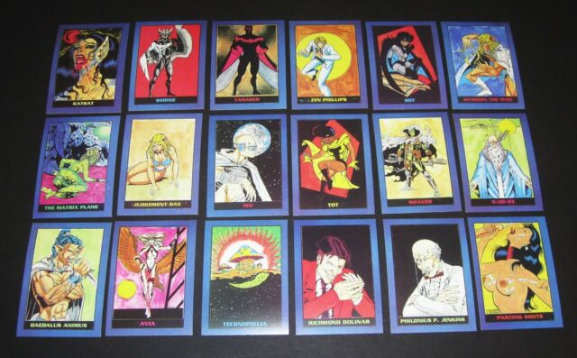 BRAINSTORM UNLIMTED (Mike Halbleib) ©1993 Brainstorm Comics Complete 18 Card Set