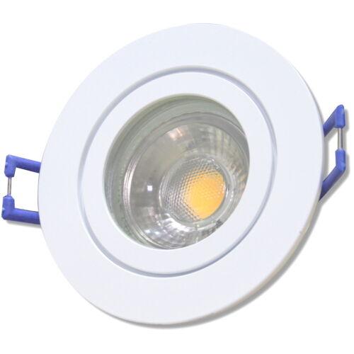 12Volt Badeinbaustrahler 5W IP44 Reflektor COB LED Rund MR16 mit Trafo