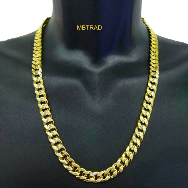 Cuban Link Chain For Sale >> Mens 14k Gold Plated 24 Inch 8mm Hip Hop Cuban Link Chain Necklace