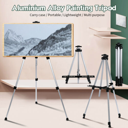 Telescopic Field Aluminum Paint Easel Tripod Art Drawing Board Display Stand SU