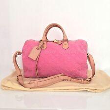 AUTHENTIC LOUIS VUITTON Pink Rose Applique SPEEDY LIMITED EDITION VERY RARE EUC