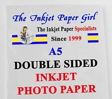 A5 155g Double Sided Gloss/Gloss Photo Inkjet Paper 30 sheets