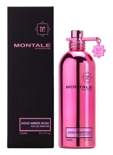 ROSE MONTALE AOUD AMBER EAU DE PARFUM SPRAY 100 ML/3.3 OZ. NUOVO IN SCATOLA