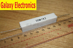 5pcs Brand New 20w 10 ohm 10RJ Cement Resistor Flame Resistance