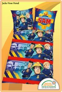 Bettwäsche Feuerwehrmann Sam Flanell Feuerwehr Gr 135x200cm Neu Ebay