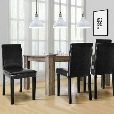 Set of 2 Contemporary Dining Chairs Living Room Elegant Simple Style  Furniture | eBay