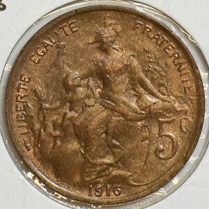France 1916 5 Centimes 298083 combine