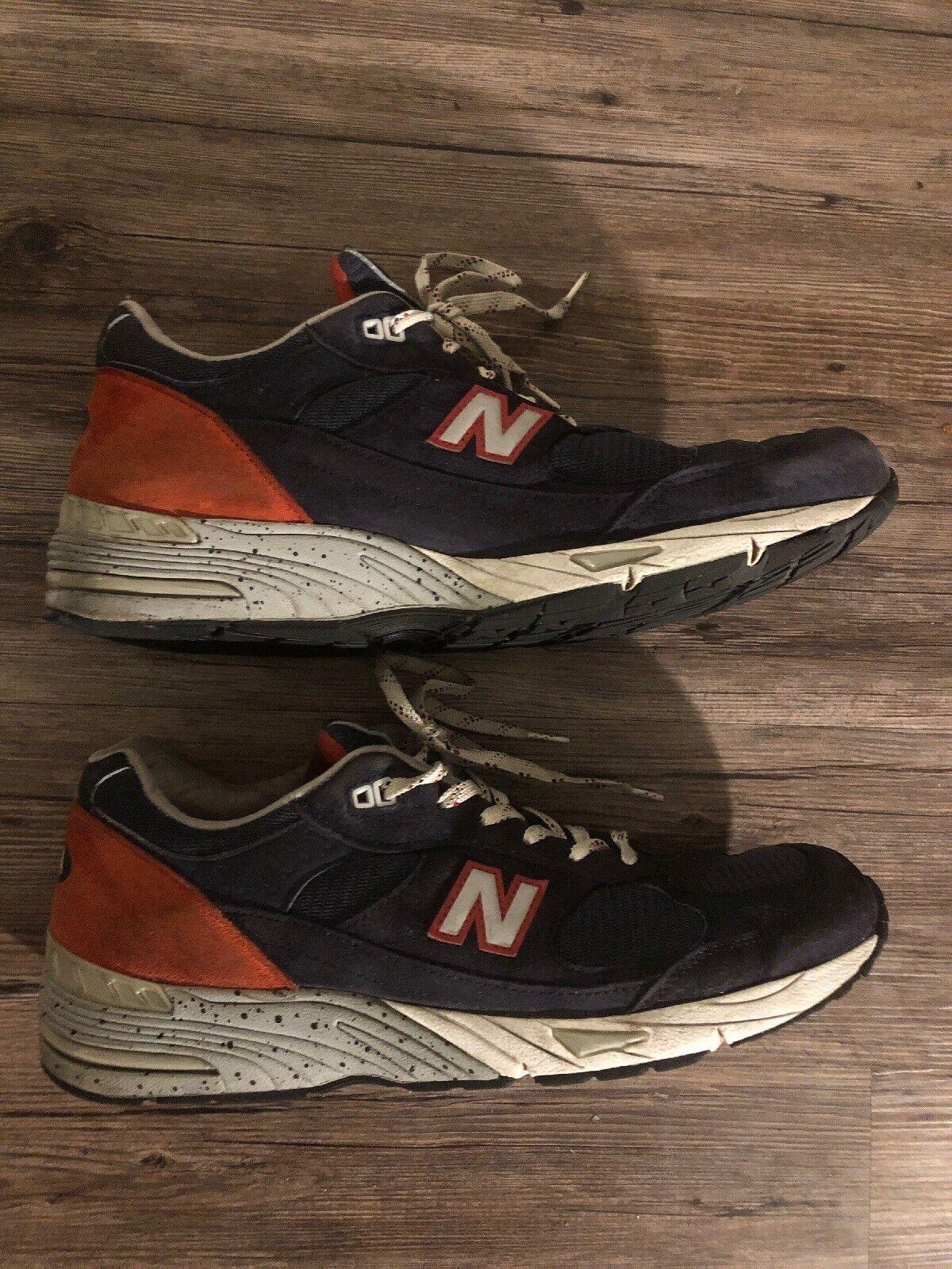 New Balance 991 Navy Maroon Men's Size 13 Running shoes Rare NB M991BB USA