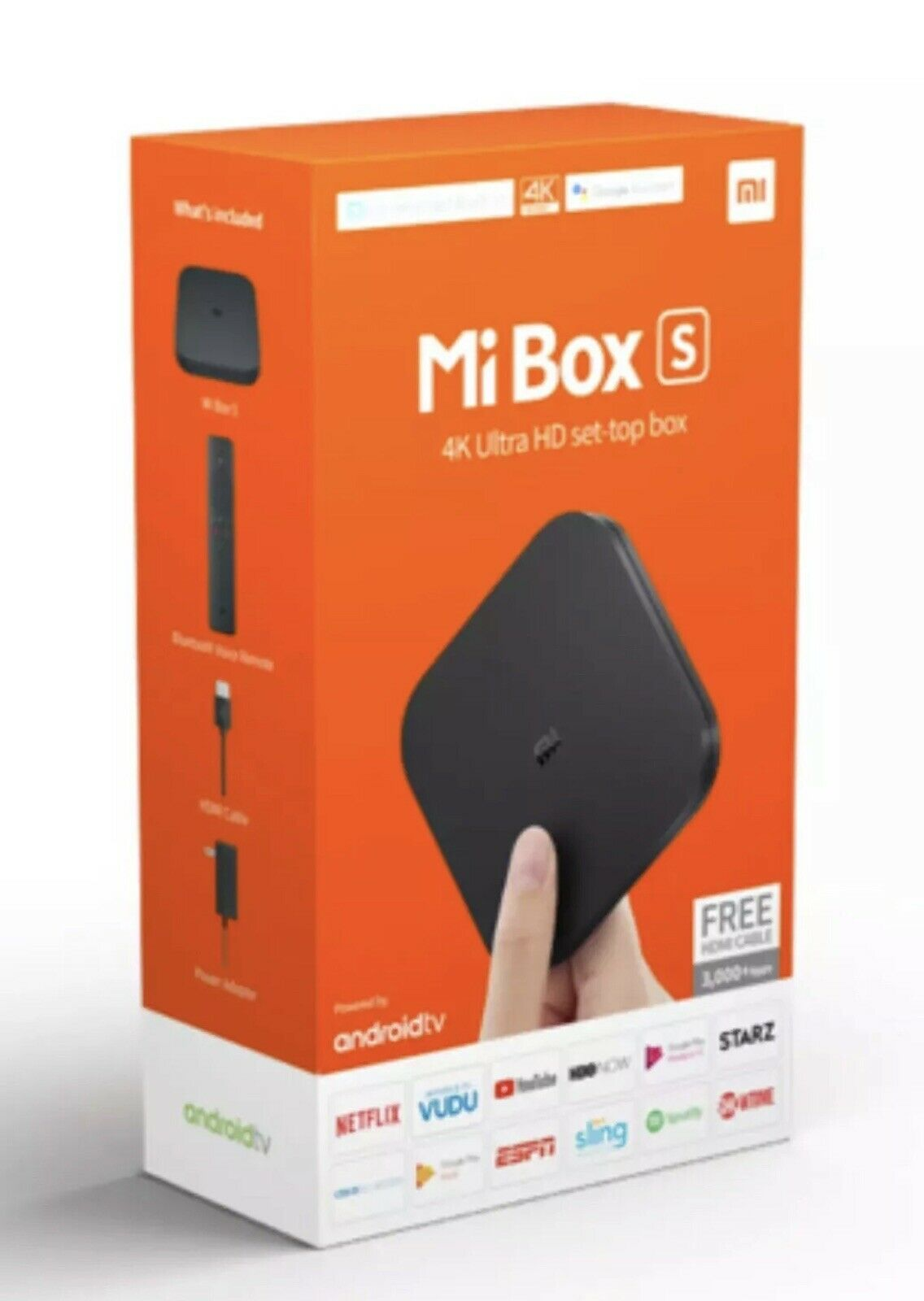 Xiaomi Mi Box S Streaming Media Player Home 4K HDR Android TV Google Assist Featured