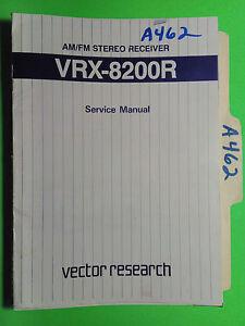 vector research vrx 8200r service manual original repair book stereo rh ebay com audison vrx service manual VRX Reichert