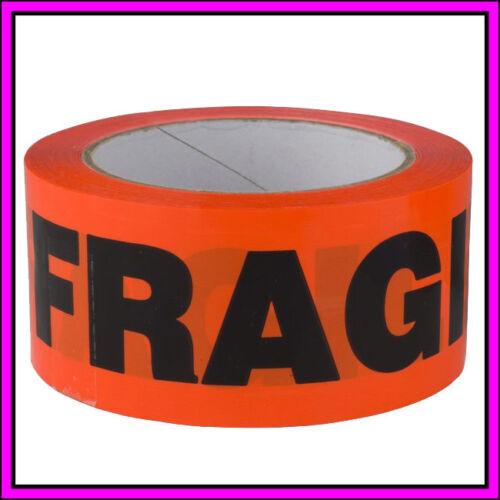 6x 12x FRAGILE Sticky Tape Packing Adhesive Bulk Business Packaging 48mm x 60m