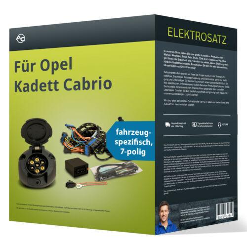 EBA spezifisch NEU inkl Opel Kadett Cabrio Elektrosatz 7-pol