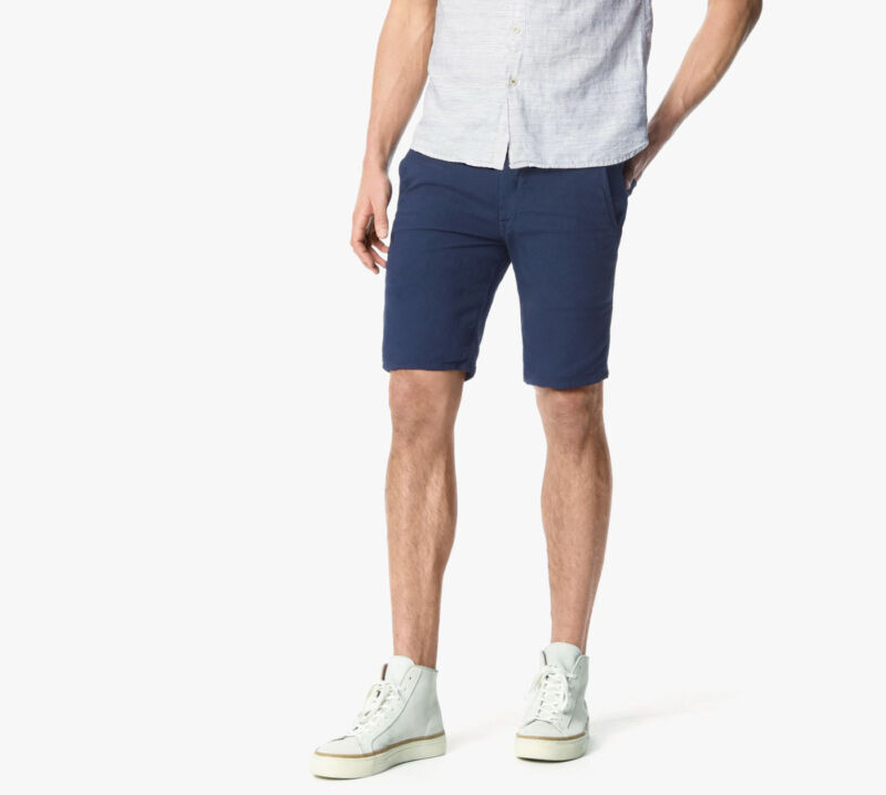 Joe's Jeans Uomo Sera Navy Brixton Dritto + Stretto Tela Pantaloni Pantaloncini