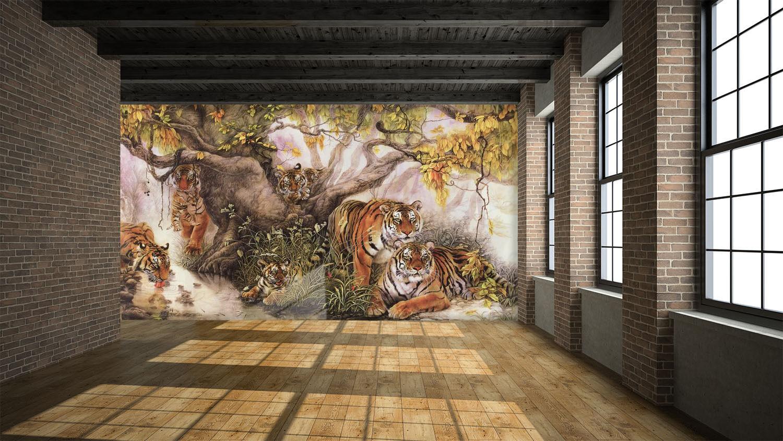 3D Tiger Animal Forest Art 2737 Wall Paper Wall Print Decal Wall AJ WALLPAPER CA