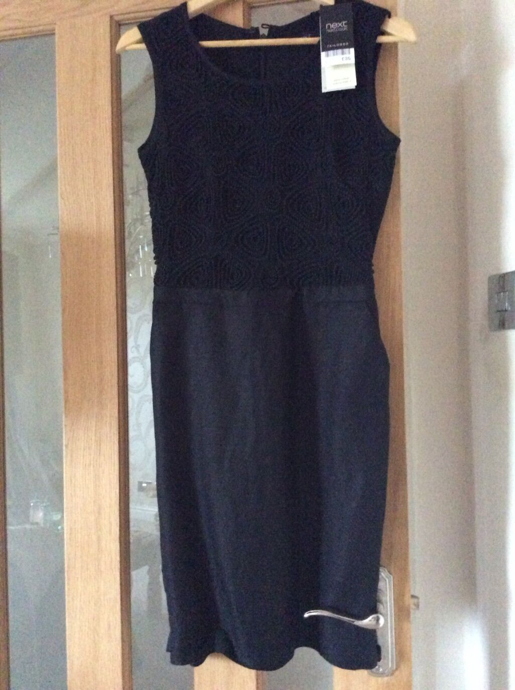 black linen dress size 6 from next brand new with tags rrp 35.00
