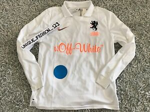 c2c35062b NIKE LAB X OFF WHITE FOOTBALL HOME JERSEY SHIRT S WHITE MON AMOUR ...