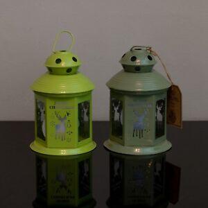 Christmas Lanterns.Details About Set Of Two Merry Christmas Lanterns Reindeer Tea Light Holder