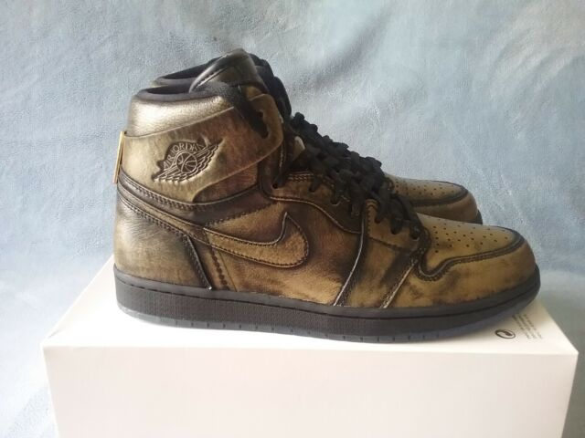 new product a15fa 17d4f Nike Air Jordan 1 Retro High OG Wings Black Gold Aj1 Aa2887-035 Size 12