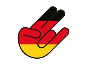1 x Aufkleber German Shocker Hand Deutschland Flagge Tuning Sticker Auto Kleber
