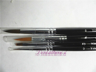 4pcs Dental Porcelain Ermine Brush Pen Set Dental Lab Equipment