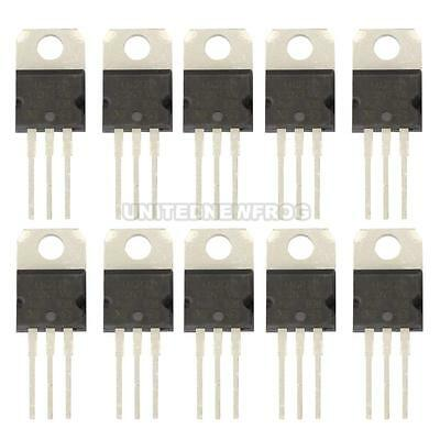 UN3F 10Pcs LM317T LM317 1.2V to 37V 1.5A Adjustable Voltage Regulator IC 3 Pin