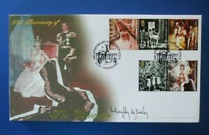 2003 THE CORONATION FIRST DAY COVER SIGNED BY WILLOUGHBY DE ERESBY