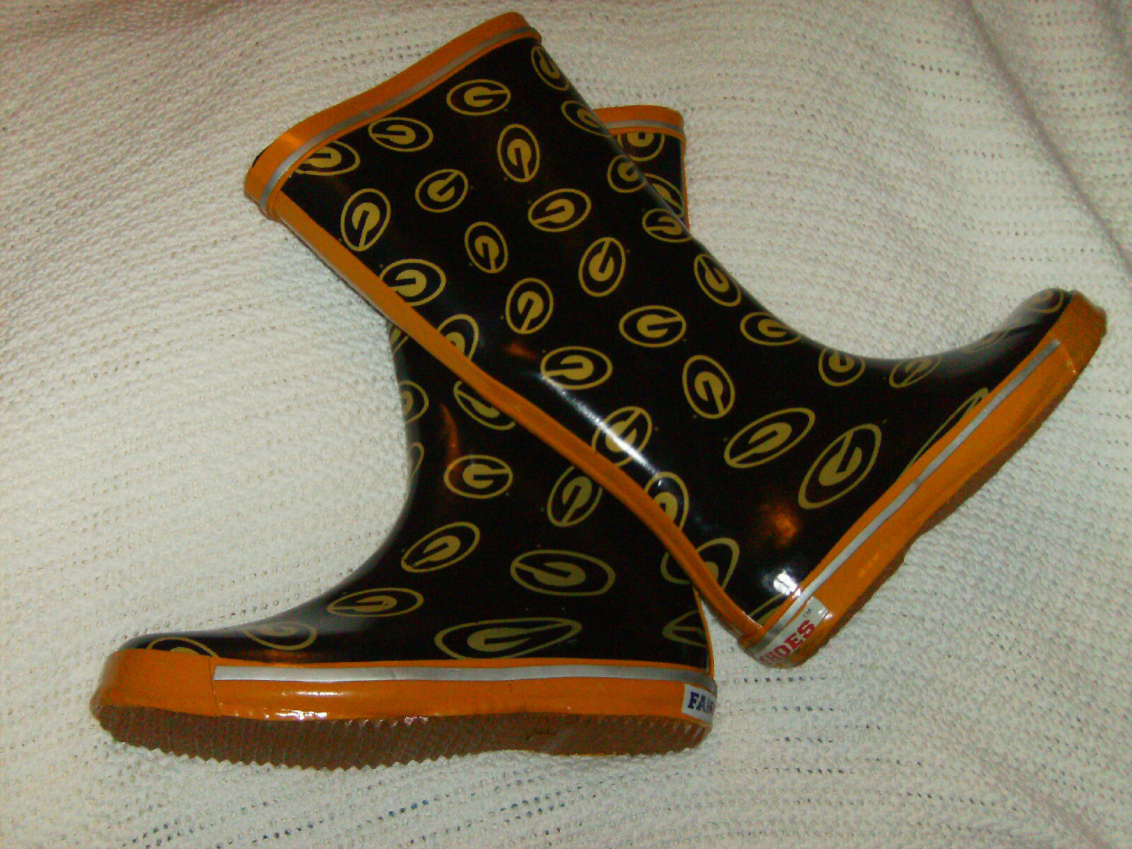 """GRAMBLING TIGERS LADIES FANSHOES;14"""" NEW TEAM BOOT BLOWOUT SALE SAVE 50% """"LOOK"""""""