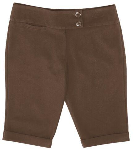 Short fille uniforme scolaire city short étendue ceinture fille école shorts