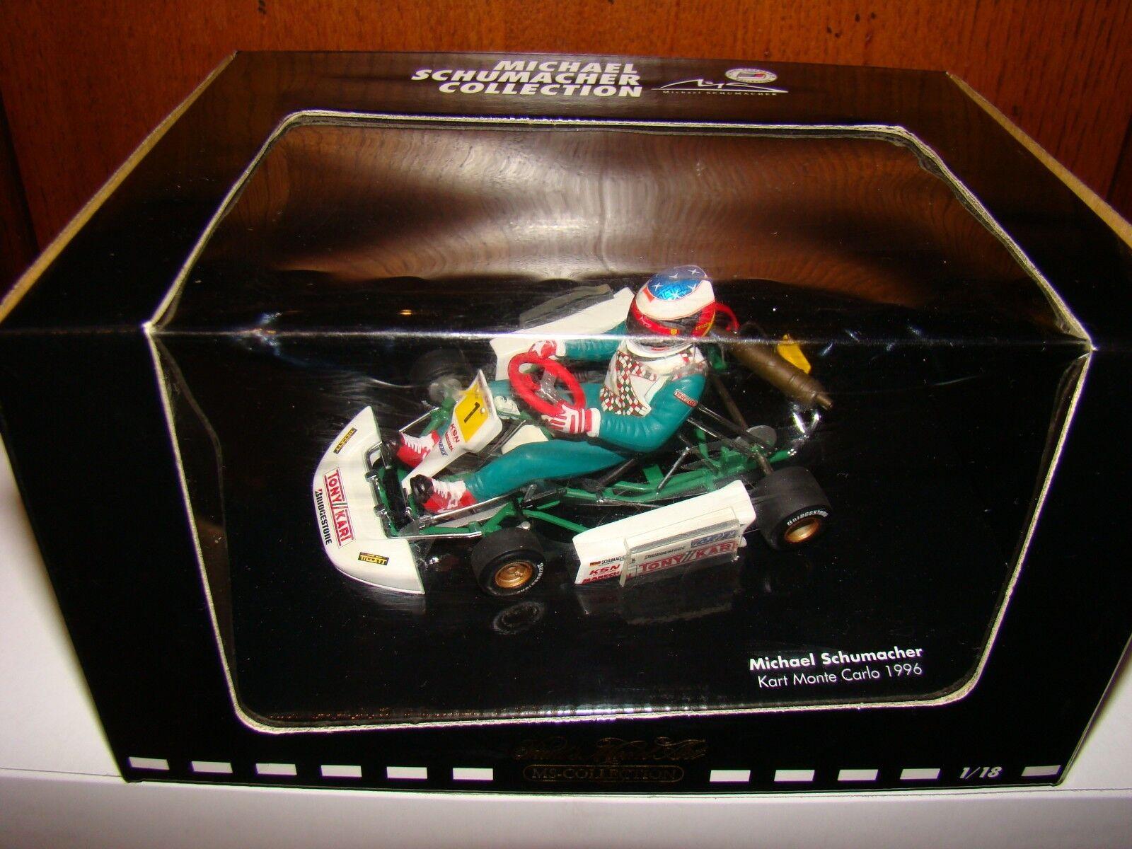 M.SCHUMACHER GO KART MONTE CARLO 1996 1/18 1/18 1/18 EME SUPERBE ET TRES RARE SOLD OUT | Une Bonne Conservation De La Chaleur  | Insolite  | Emballage Solide  8561b3