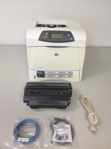 Q5401A HP LaserJet 4250n Workgroup Laser Printer 30 day refurb with NEW toner