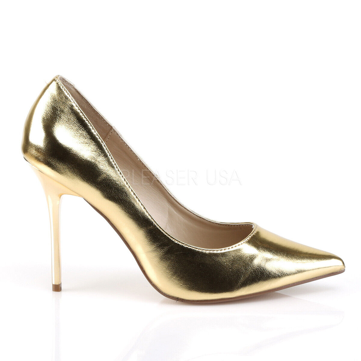 Classique 20 Pointy Toe 4  High Stiletto Heel Pumps chaussures 6 - 16 or