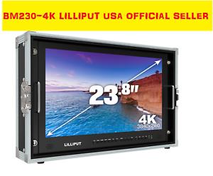LILLIPUT-23-8-034-BM230-4K-Broadcast-Ultra-HD-w-SDI-HDMI-DVI-VGA-TALLY-V-Mount