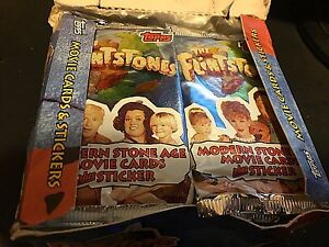 THE FLINTSTONES 1993 Topps Movie Trading Card BOX 36 Packs w Stickers Inserts?