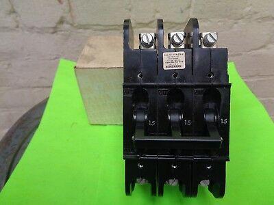 Heinemann Circuit Breaker CF3-G3-U 15A 240VAC 3 pole many available NEW
