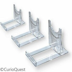 Plastic Plate Stands Clear Twist Adjustable: Choice of packs & sizes ...