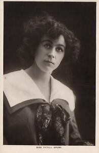 VINTAGE TALMA GLAMOUR PHOTO ACTRESS MISS TITTEL BRUNE POSTCARD - UNUSED