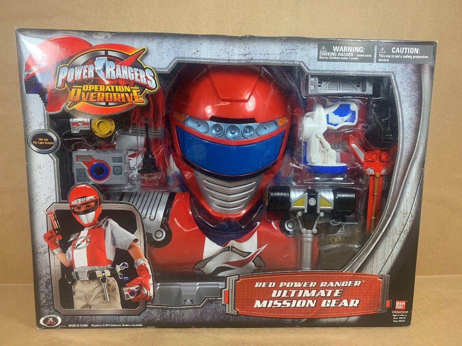 New - Power Ranger Operation Overdrive rot Ranger Ultimate Mission Gear