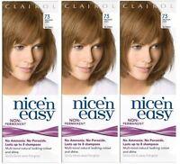 3 x Clairol Nice n Easy Hair Dye (73 Medium Ash Blonde) Non Permanent
