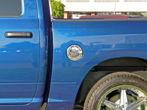 W//RAISED BOLTS TFP CHROME SS GAS DOOR COVER FOR DODGE RAM 2500//3500 2010-2015