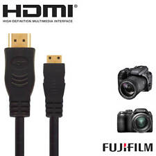 Fujifilm Finepix X20, S9200, X100S HDMI Mini TV 5m Long Gold Cord Wire Cable