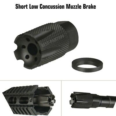 NEW Compact Low Concussion 1//2x28 Muzzle Brake Compensator .223 5.56