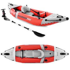 INTEX Excursion Pro K1 Kajak Set Schlauchboot + Paddel + Pumpe für 1 Person