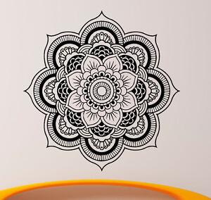 Mandala wall decal vinyl sticker indian om lotus flower yoga home image is loading mandala wall decal vinyl sticker indian om lotus mightylinksfo