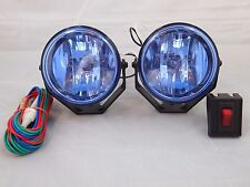 "2 4X4 OFF ROAD 3.5"" UNIVERSAL DRIVING LAMPS FOG LIGHTS SET KIT WIRING HARNESS 55"