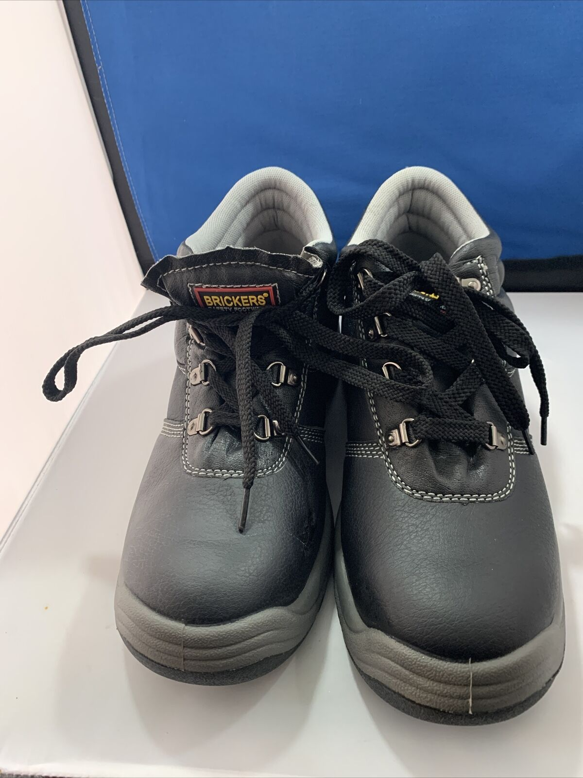 BRICKERS WORKERS BOOTS BLACK GREY SAFETY STEEL TOE CAP SIZE 8#09