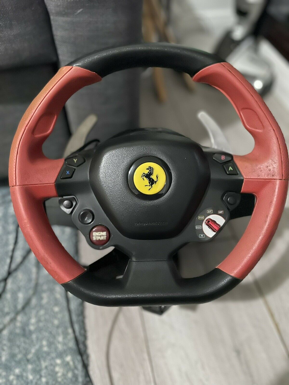 Steering Wheel With Paddle Gears And Pedals Pc