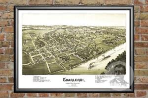 Old-Map-of-Charleroi-PA-from-1897-Vintage-Pennsylvania-Art-Historic-Decor