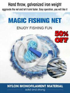 Magic-Fishing-Net-Finefish-Aluminum-ring-USA-catch-fish-network