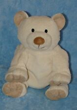 Chosun Plush Cream White Tan Teddy Polar Bear Bean Bag Soft Stuffed Animal Toy