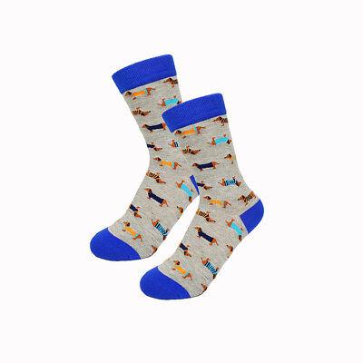 Retro Mens Soft Cotton Funky Dachshund Novelty Quality Winter Socks Sausage Dog
